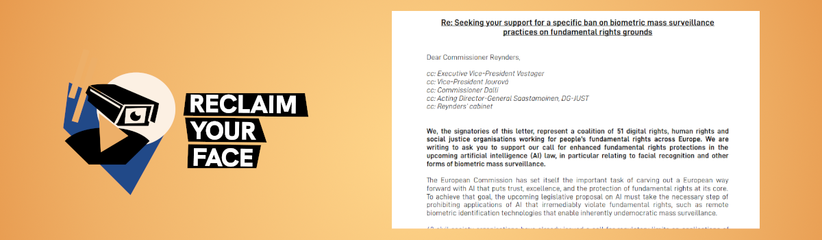 Letter to EU Commissioner for Justice